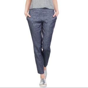 Theory thaniel terra linen pants, size 0